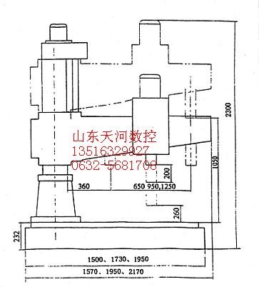 zq3050机械摇臂钻床主要参数图